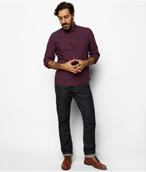 Thumbnail Flanellskjorte regular fit - Rød - Men - KappAhl