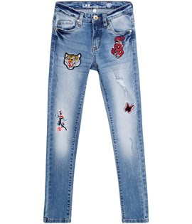 Broderade jeans