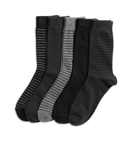 5-pcs Socks - Black - Men - KappAhl