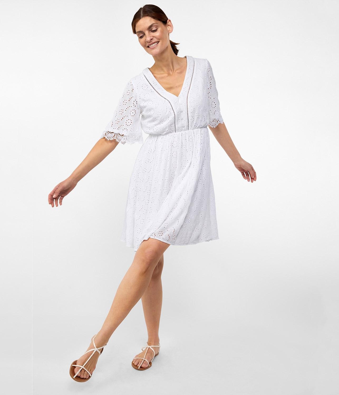 ba2d8c8be334 Kort klänning i vitt | Dam | KappAhl