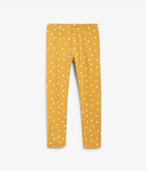 Thumbnail Mönstrade leggings - Orange - Kids - KappAhl