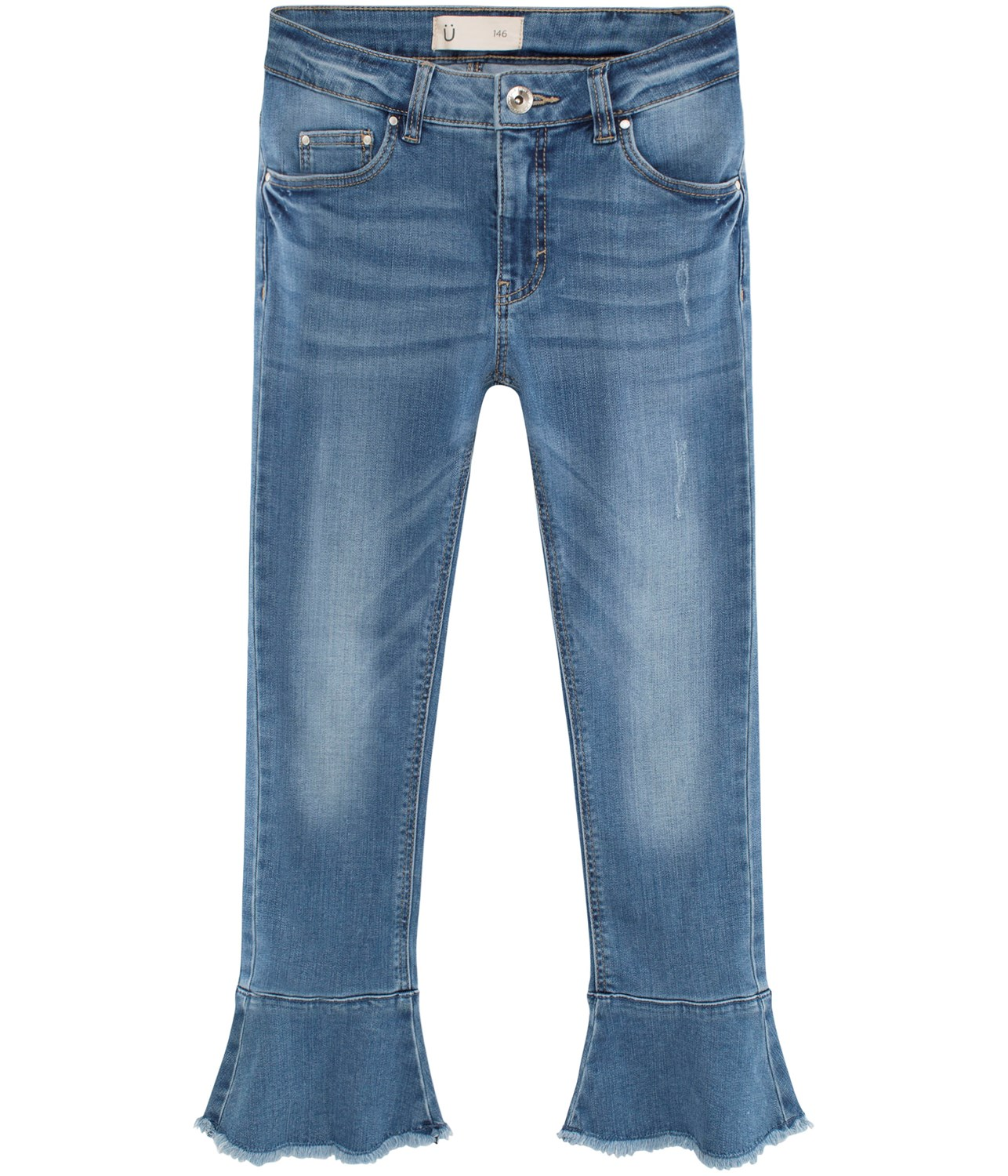 Kick flare jeans med volang 8d85e4e801add