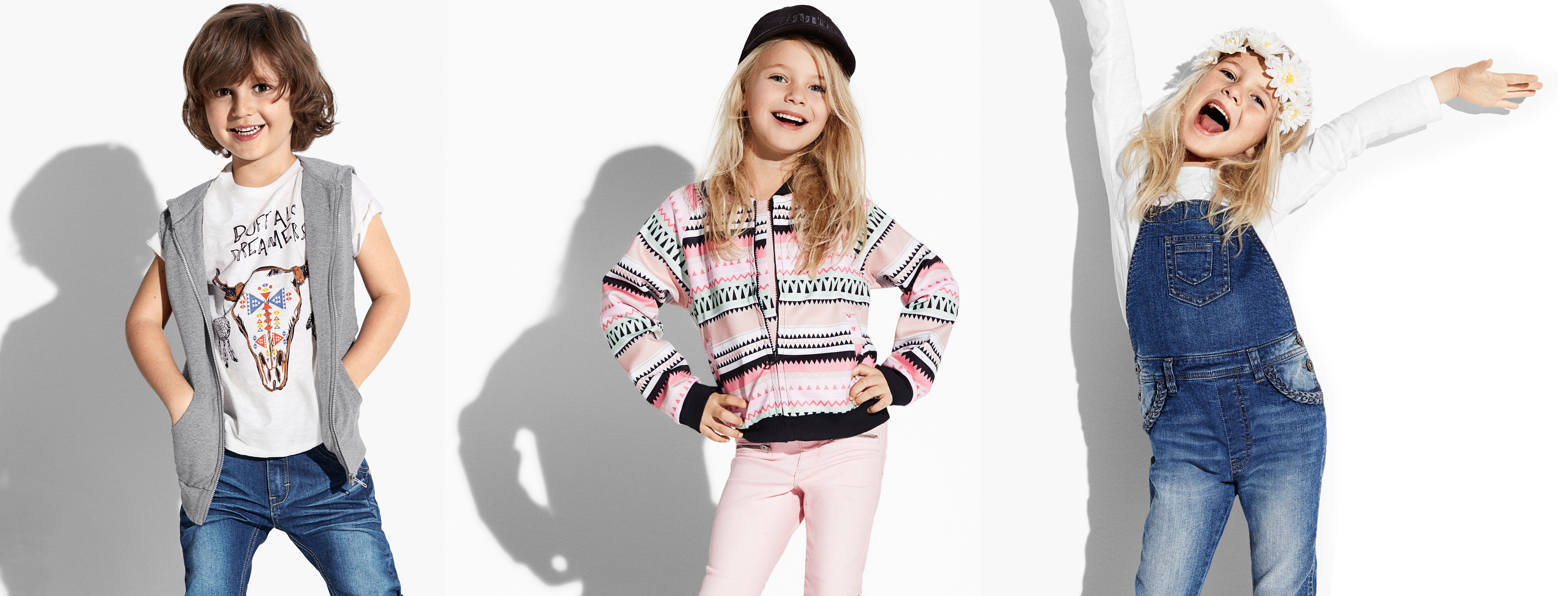 <p>70's, preppy and colourful for kids at KappAhl SS16</p>