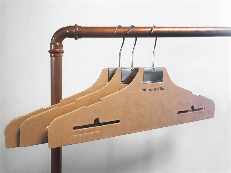 Unique, innovative hangers to display KappAhl's sustainable collection