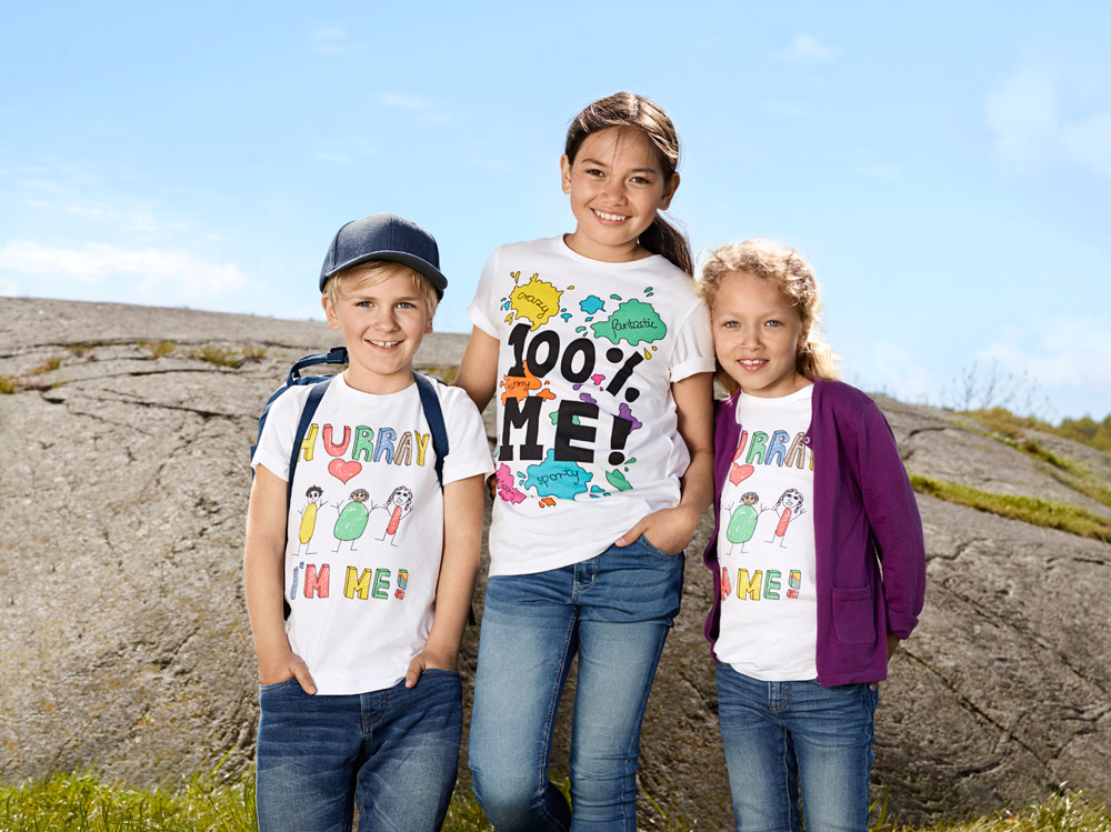 <p>This year's t-shirts designed by children for Bris at KappAhl</p>