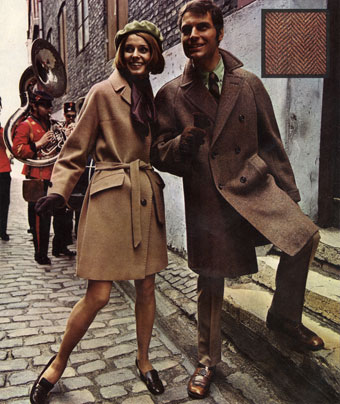 Advert for coats from 1968