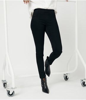 Thumbnail Treggings slim normal waist - Sort - Woman - KappAhl