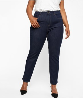 Thumbnail Jeansy April straight fit - Niebieski - Woman - KappAhl