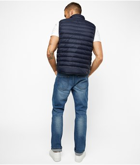 Thumbnail Down vest - Blue - Men - KappAhl
