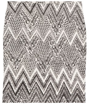 Thumbnail Patterned skirt - Grey - Woman - KappAhl