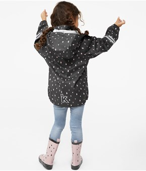 Thumbnail Rain jacket - Grey - Kids - KappAhl