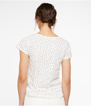 Thumbnail Basic top with short sleeve - White - Woman - KappAhl