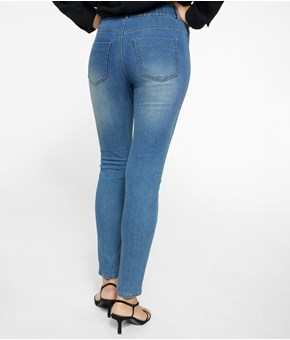 Thumbnail Treggings slim normal waist - Niebieski - Woman - KappAhl