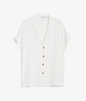 Thumbnail Short-sleeved blouse - White - Woman - KappAhl