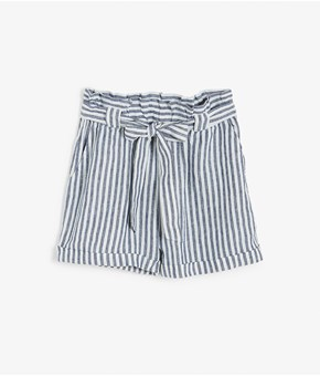 Thumbnail Linen shorts - White - Woman - KappAhl
