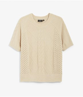 Thumbnail Knitted sweater - Beige - Woman - KappAhl