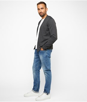 Thumbnail Cardigan - Grey - Men - KappAhl